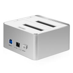 优越者2.5/3.5英寸双盘位硬盘底座 USB3.0机械/SSD固态硬盘盒 Y-3026SL