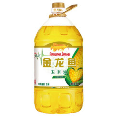 金龙鱼玉米油5L/桶 非转基因食用油物理压榨炒菜油玉米胚芽烘培油 一桶5升