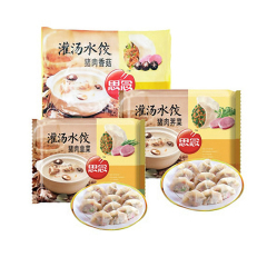 思念灌汤水饺 水饺 500g 猪肉荠菜