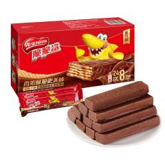 脆脆鲨 巧克力威化饼干 1盒(24+8条)