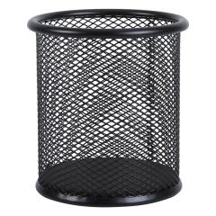 晨光 黑色金属网格圆形笔筒  ABT98403