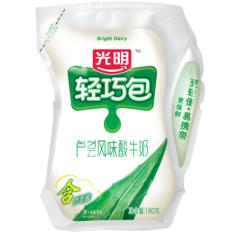 光明 轻巧包 芦荟风味酸牛奶180g*3袋