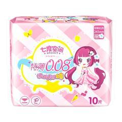七度空间少女系列特薄棉棉日用卫生巾10片