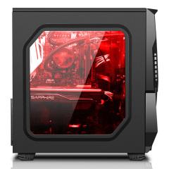 激战电脑ATX主机 外壳 黑白色侧透游戏大机箱 动力火车小新USB2.0 官方标配 小新 黑