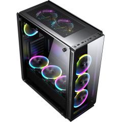 撒哈拉 海盗 P30 竞技版极客版台式机电脑侧透钢化玻璃大机箱 海盗P30玻璃面板/风冷